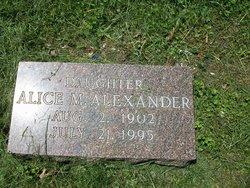 Alice M Alexander