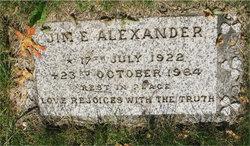 Jim E Alexander