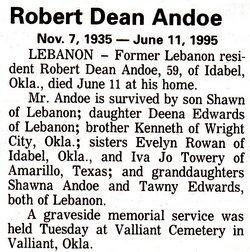 Robert Dean Andoe