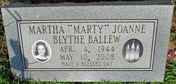 Martha Joanne Marty <i>Blythe</i> Ballew