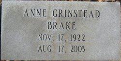 Anne <i>Grinstead</i> Brake