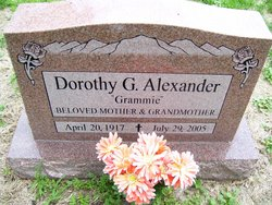 Dorothy G Alexander