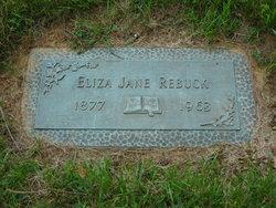 Eliza Jane Jennie <i>Reed</i> Rebuck