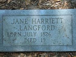 Jane Harriett Langford