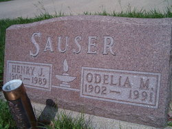 Odelia M <i>Hosch</i> Sauser