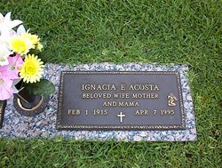 Ignacia Hortina <i>Estorga</i> Acosta
