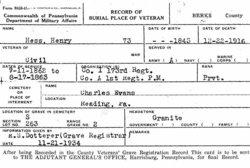 Pvt Henry Hess