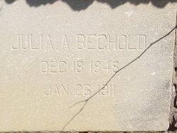 Julia Ann <i>Poor</i> Bechold