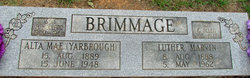 Alta May <i>Yarbrough</i> Brimmage