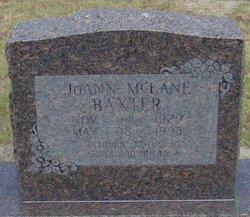 JoAnn <i>McLane</i> Baxter