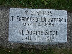 Sr Mary Francesca Walgenbach