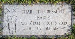 Charlotte H <i>Nader</i> Bessette