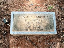 Grace <i>Humphrey</i> Allsbrook