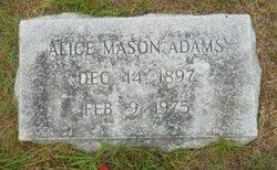 Alice <i>Mason</i> Adams