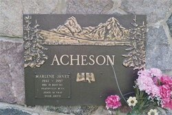 Marlene Janet <i>Corr</i> Acheson