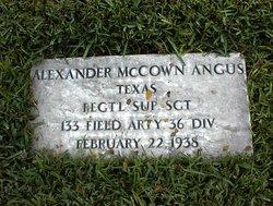 Alexander McCown Angus