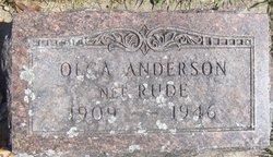 Olga <i>Rude</i> Anderson
