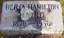 Berta <i>Hamilton</i> Baird