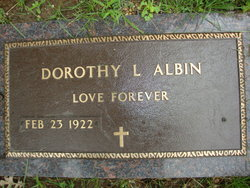 Dorothy L <i>Anweiler</i> Albin
