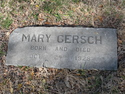 Infant Mary Gersch