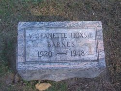 Veda Jeanette <i>Hoxsie</i> Barnes