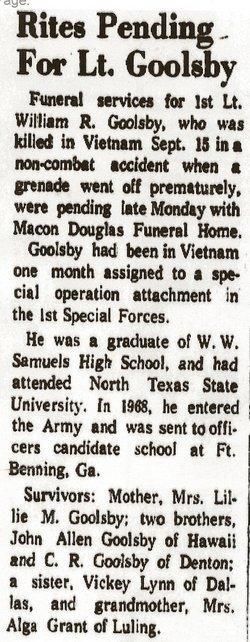 William R Goolsby, Jr