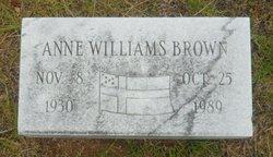 Anne <i>Williams</i> Brown