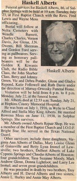 Elden Haskell Alberts