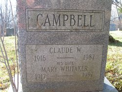 Claude W Campbell