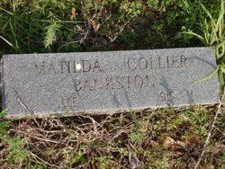 Matilda <i>Collier</i> Bankston
