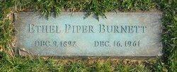 Ethel <i>Piper</i> Burnett