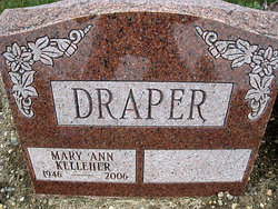 Mary Ann <i>Kelleher</i> Draper