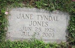 Jane <i>Tyndal</i> Jones