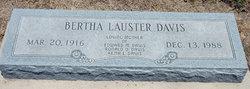 Bertha Julie <i>Lauster</i> Davis