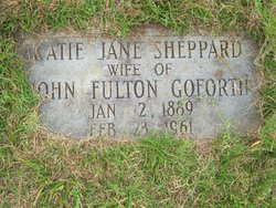 Katie Jane <i>Sheppard</i> Goforth