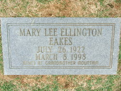 Mary Lee <i>Ellington</i> Eakes