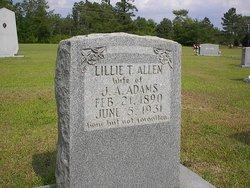 Lillie T. <i>Allen</i> Adams