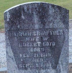 Hannah <i>Crowther</i> Boyd