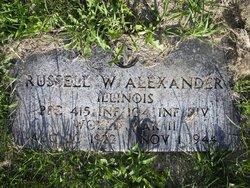 Pvt Russell W. Alexander