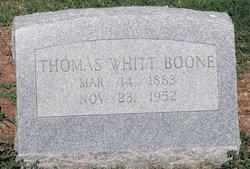 Thomas Whittington Whitt Boone
