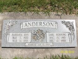 Barbara Ann <i>Hudman</i> Anderson