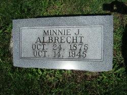 Wilhelmina J. Minnie <i>Schrorer</i> Albrecht