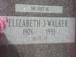 Elizabeth Jo Betty Jo <i>Fanning</i> Walker