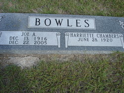 Harriette <i>Chambers</i> Bowles