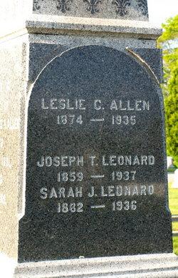 Sarah J <i>Allen</i> Leonard