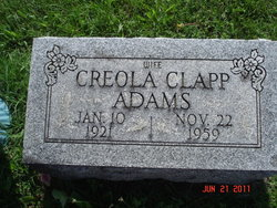 Creola <i>Clapp</i> Petty Debaun Adams