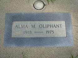 Alma M <i>Crews</i> Oliphant