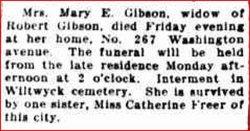 Mary E <i>Freer</i> Gibson