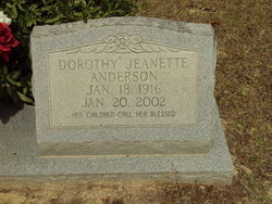 Dorothy Jeanette Anderson