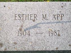 Esther M <i>Barger</i> App